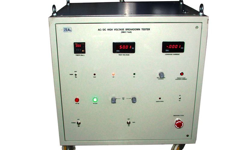High Voltage Tester Manufacturers : Ac dc high voltage tester insulation testers