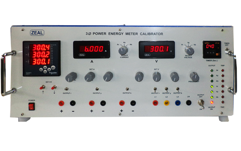High Voltage Phase Tester : Three phase energy meter calibrator manufacturer pune india